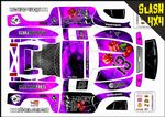 PURPLE The Gambler Lucky 13 themed vinyl SKIN Kit To Fit Traxxas Slash 4x4 Short Course Truck